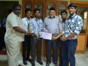 1St Prize in Robo Race Event, A National Level Technical Symposium (MAROE 2K15)