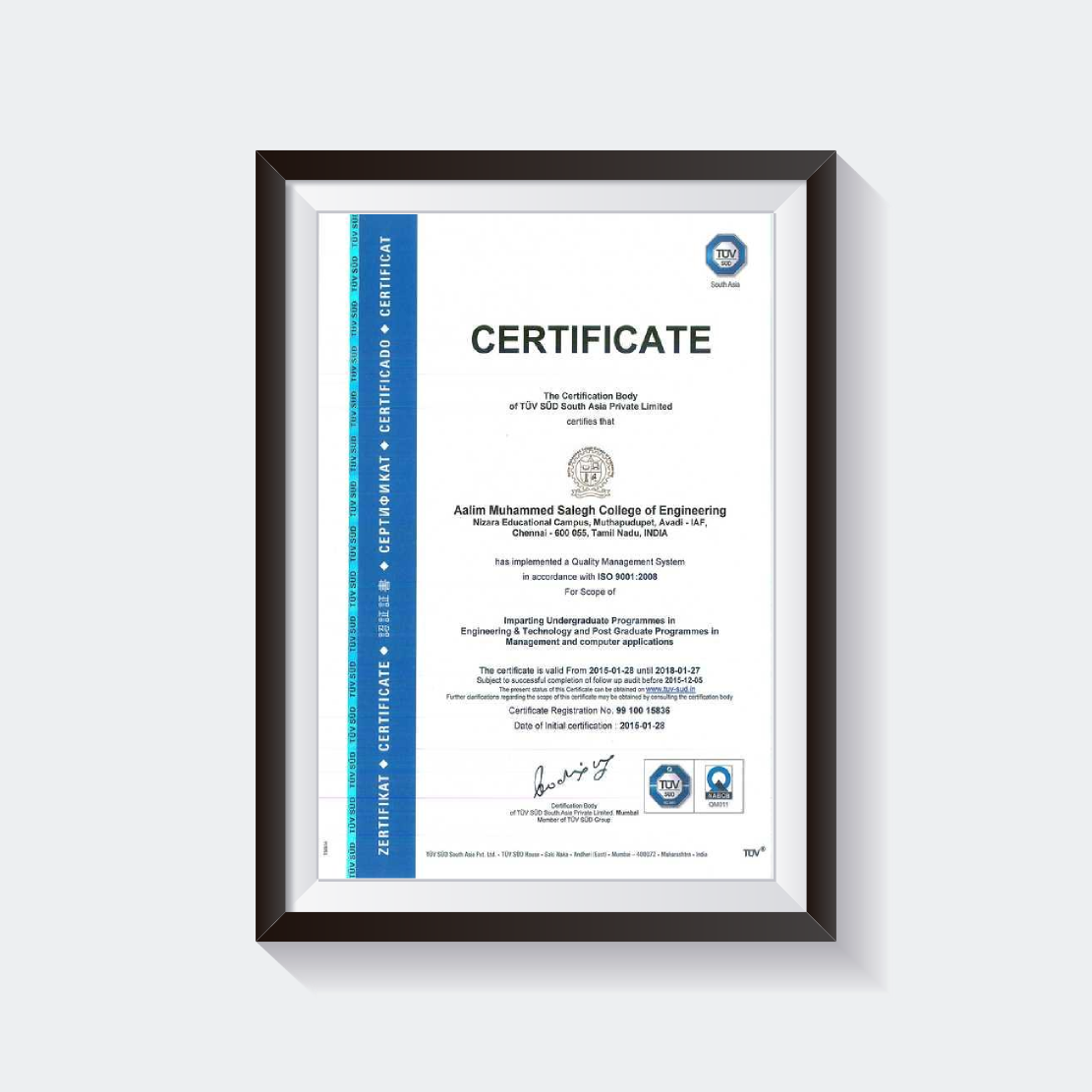 Accreditation aalim muhammed salegh college of engineering iso 90002008 certification 1betcityfo Gallery