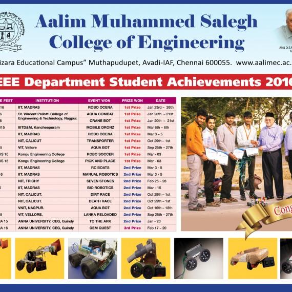 EEE Department Achievement 2016