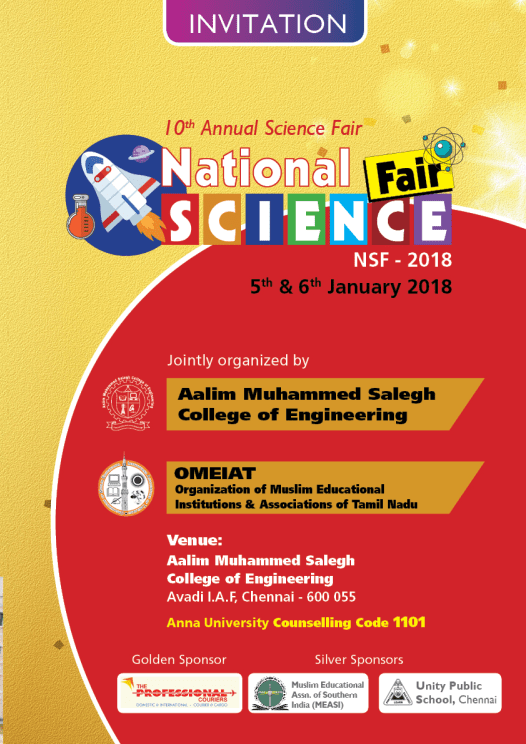 National science fair nsf 2018 aalim muhammed salegh college invitation 2nd state level quiz competition stopboris Choice Image