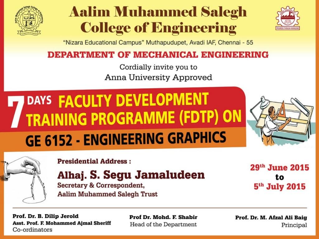 7 Days Faculty Development Programme