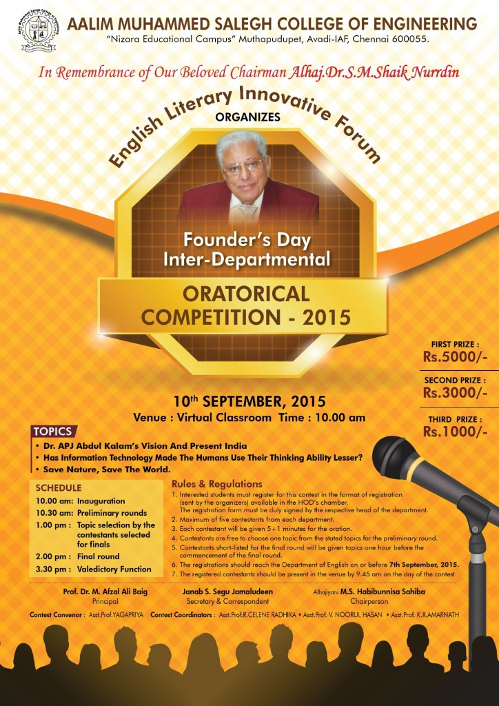 ORATORICAL COMPETITION-2015