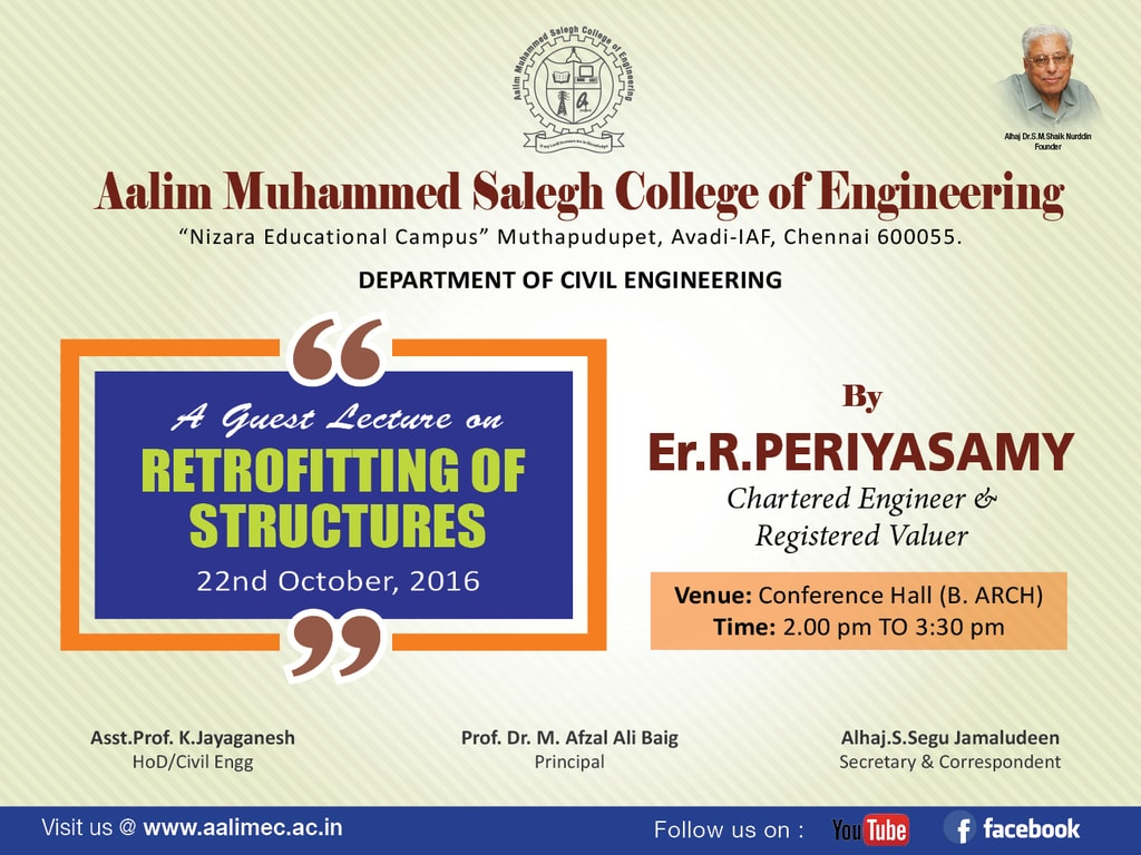 Guest Lecture on Retrofitting of Structures