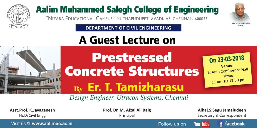 Guest Lecture Civil Dept