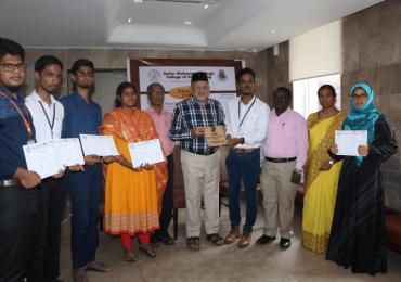 AMS students won Smart India Hackathon 2018
