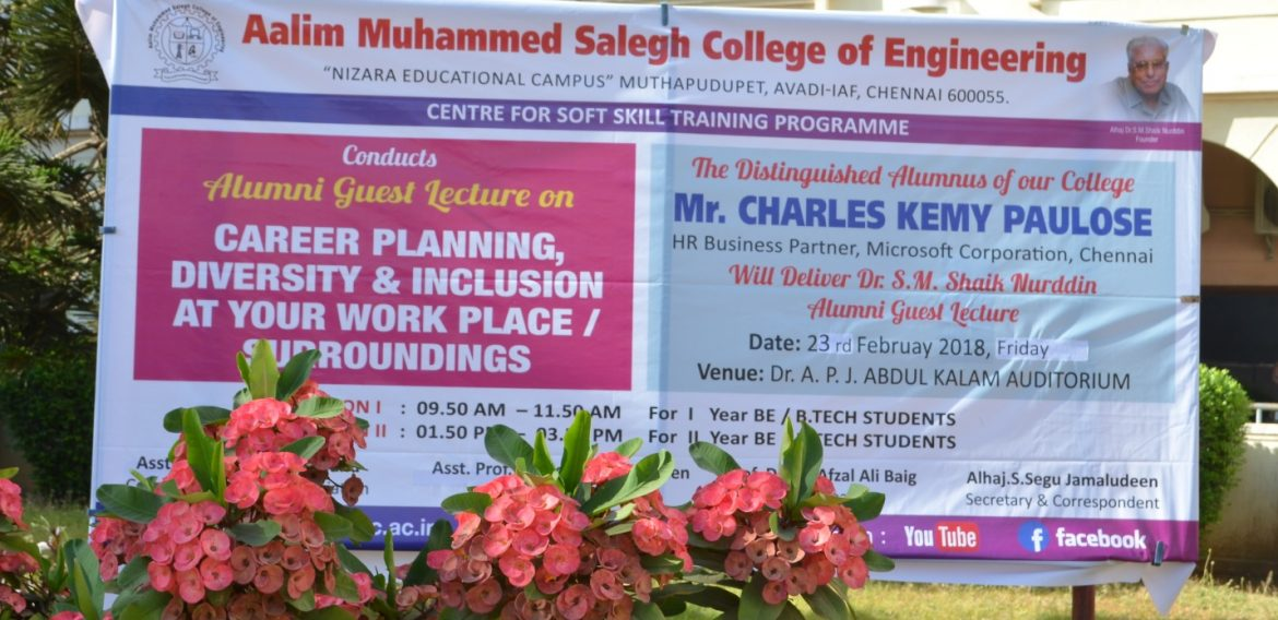 Career counseling given by Mr. Charles Kemy Paulose
