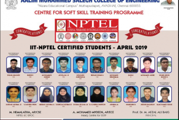 APRIL 2019 CERTIFIED CANDIDATES