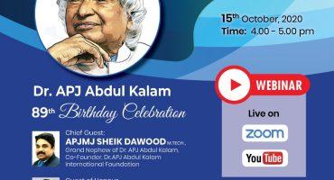 Dr. APJ Abdul Kalam's 89th Birthday Celebration