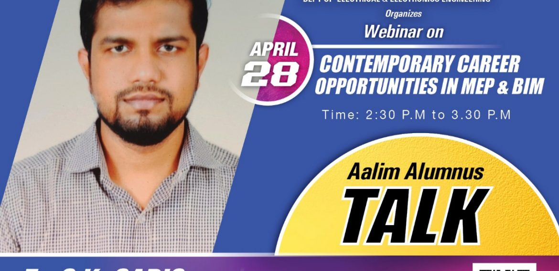"Alumni Talk on ""Contemporary Career Opportunities in MEP & BIM"""